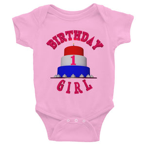1st HAPPY BIRTHDAY GIRL Bodysuit ByJackson - ByJackson