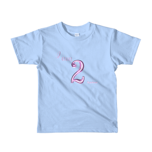 I am 2 Pink Short sleeve kids t-shirt ByJackson