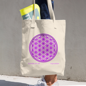 Flower of Life Cotton Tote Bag ByJackson