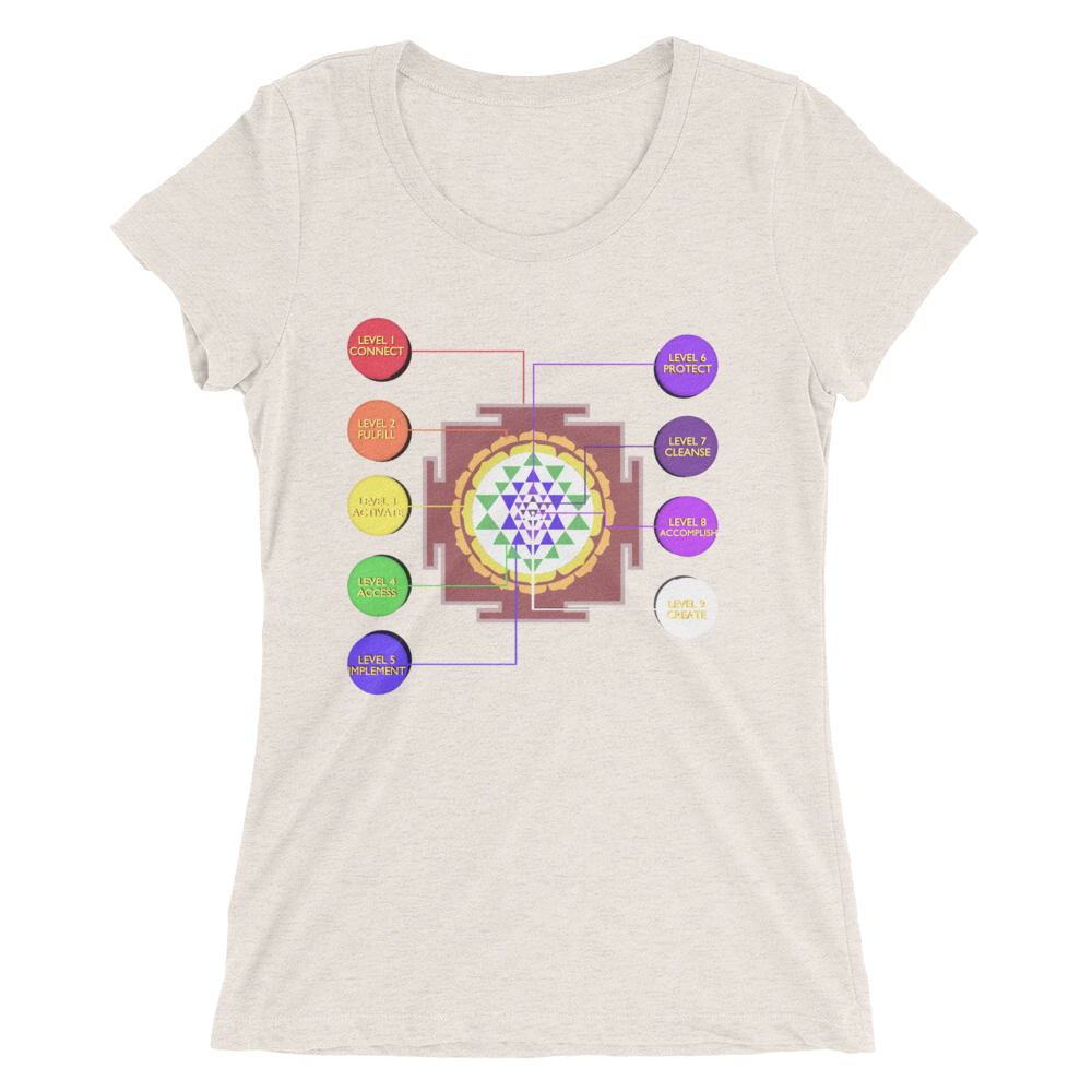 Sri Yantra Ladies' short sleeve Tee Shirt ByJackson