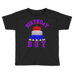 HAPPY BIRTHDAY BOY Kids Short Sleeve Tee Shirt ByJackson - ByJackson