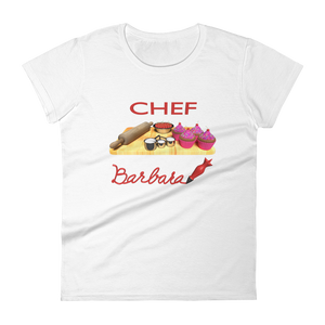 Customize the name Pastry Chef Women's short sleeve t-shirt ByJackson