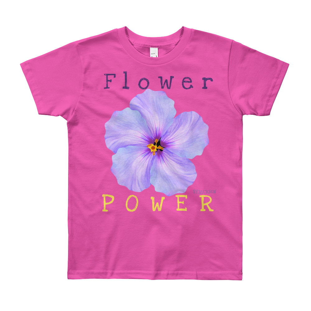 Flower Power2 Youth Short Sleeve T-Shirt, ByJackson.