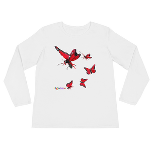 Butterfly Ladies' Long Sleeve Tee Shirt ByJackson