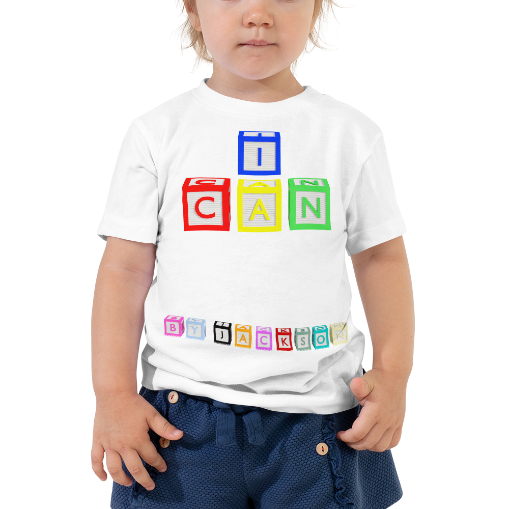 I CAN Toddler Short Sleeve Tee, ByJackson.