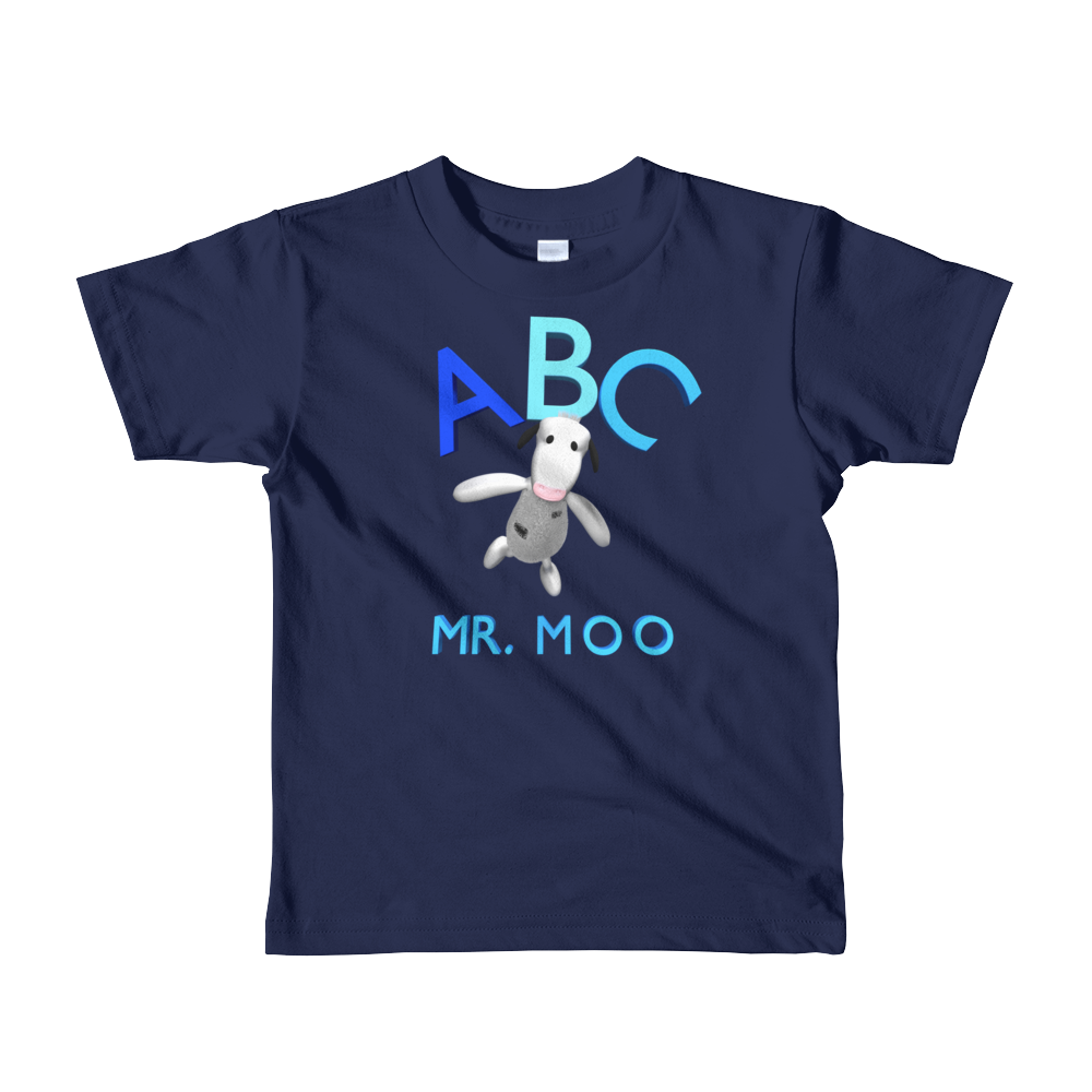 ABC Mr.Moo Short sleeve kids t-shirt ByJackson. - ByJackson