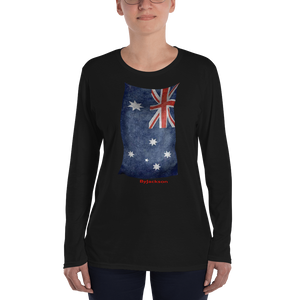 Australian Flag Ladies' Long Sleeve T-Shirt ByJackson