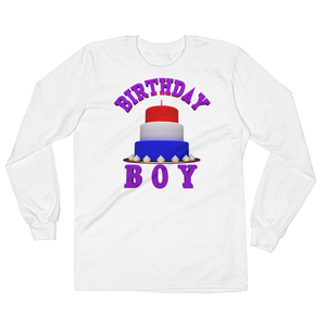 HAPPY BIRTHDAY BOY Adult Mens Long Sleeve Tee Shirt ByJackson - ByJackson
