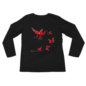 Butterfly Ladies' Long Sleeve Tee Shirt ByJackson - ByJackson