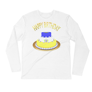 Happy Birthday Saint Lucia Long Sleeve Tee Shirt ByJackson - ByJackson