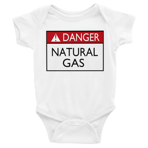 Danger Natural Gas Baby Bodysuit By Jackson