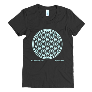 FLOWER OF LIFE Women's Crew Neck Crew Neck Tee ByJackson