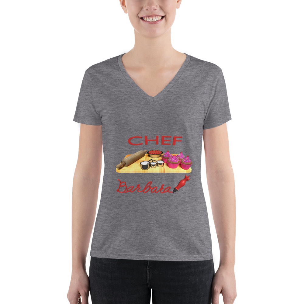 Customize the name pastry Chef Women's Fashion Deep V-neck Tee ByJackson
