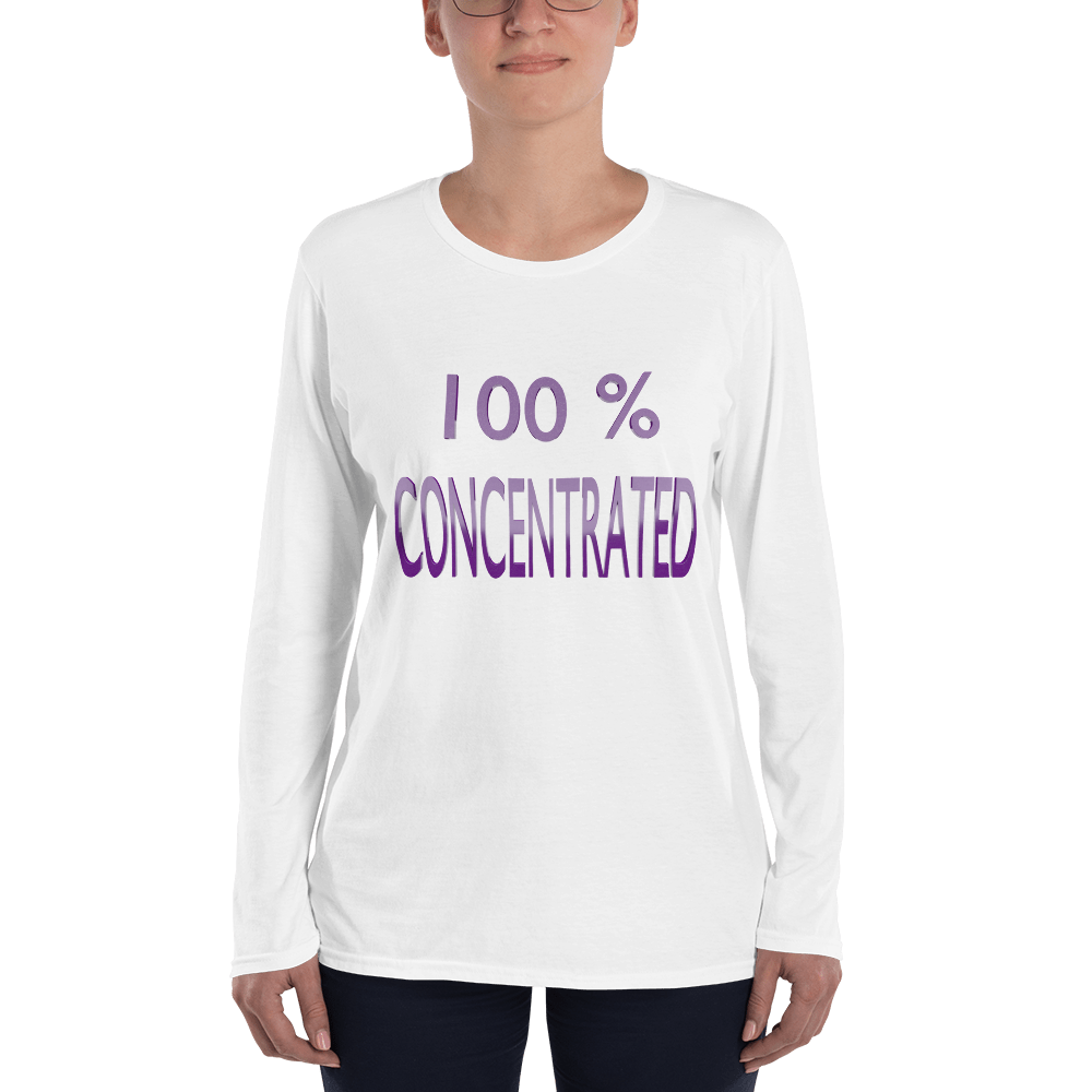 100% Ladies' Long Sleeve T-Shirt ByJackson