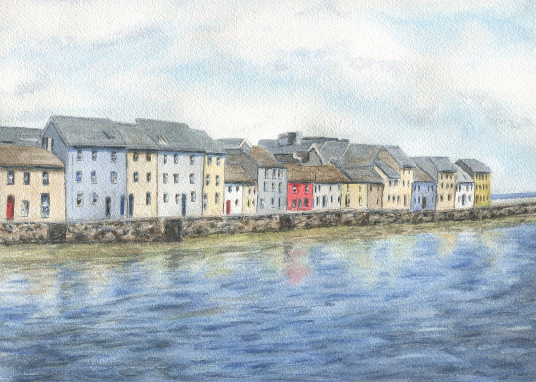 Claddagh Quay, Galway Ireland (Watercolour Painting) TEST