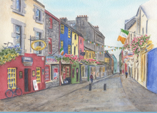 Load image into Gallery viewer, Galway Ireland Quay Street Watercolour Painting