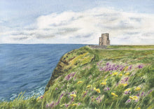 Load image into Gallery viewer, O'Brien's Tower, Cliffs of Moher, Ireland (Watercolour)