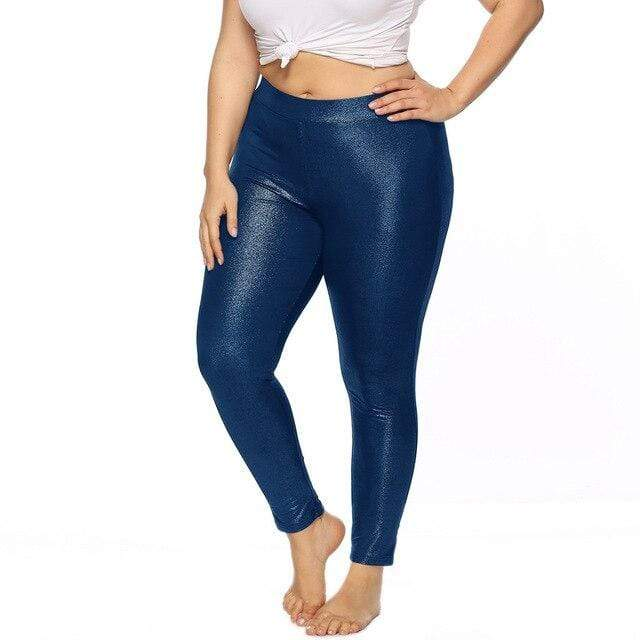 eprolo Blå / XL Plus Size Leggings *Glossy*