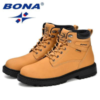 eprolo BONA New Designer Winter Boots Men Nubuck Leather Unisex Style Fashion  Work Shoes Lover Martin Boots Outdoor Casual Shoes