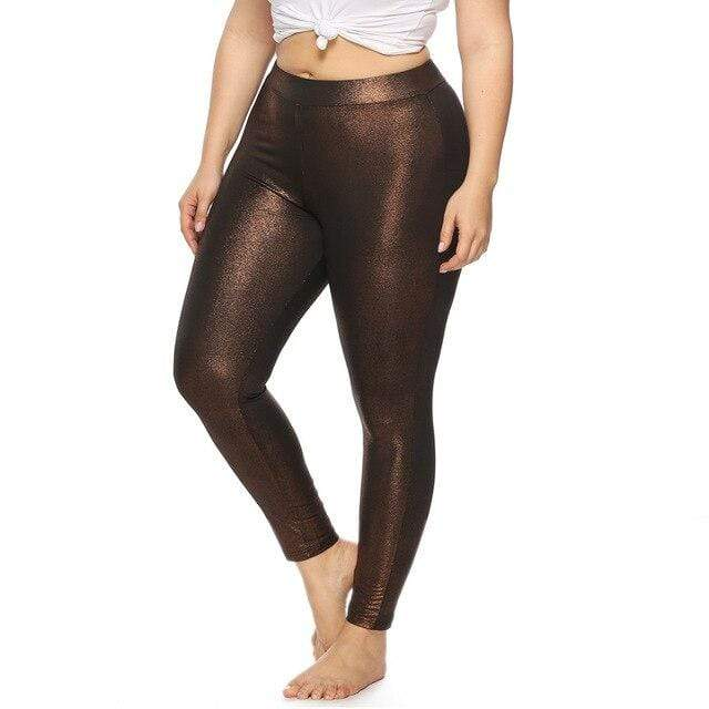 eprolo Brun / XL Plus Size Leggings *Glossy*
