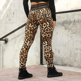 Leggings I Leopardmönster