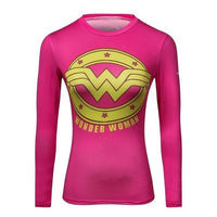 eprolo Superwoman rosa / S Batman/Superman Fitness Tröja