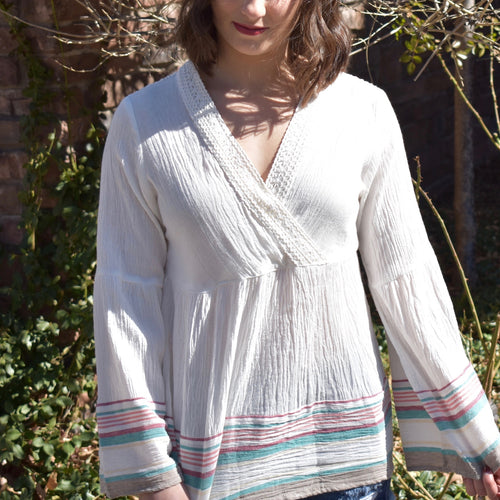 Bell Sleeve Beach Top