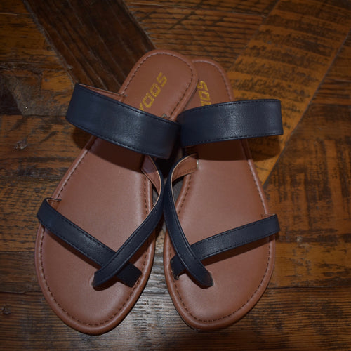Toe Ring Slip On Sandals