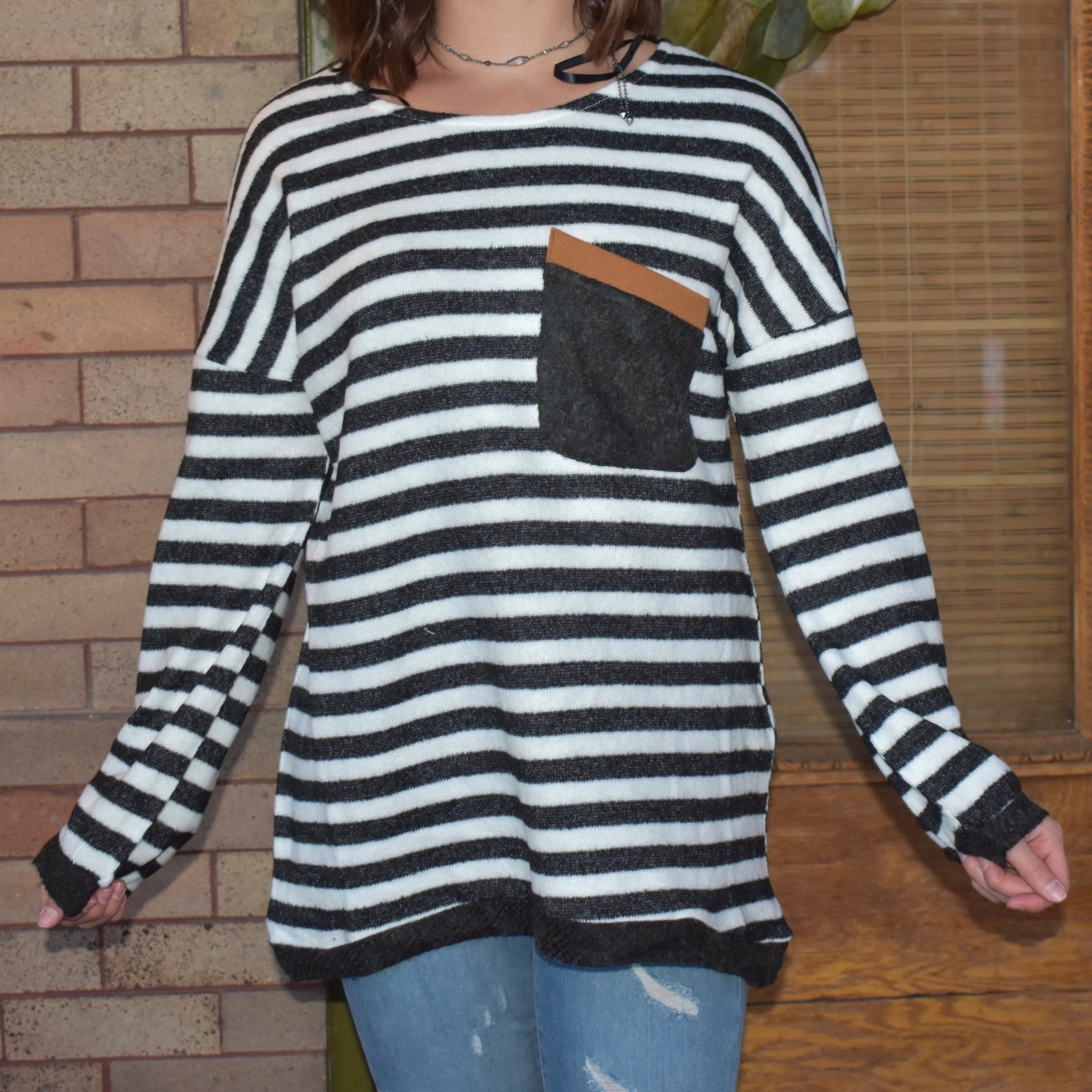Block Pocket Sweater