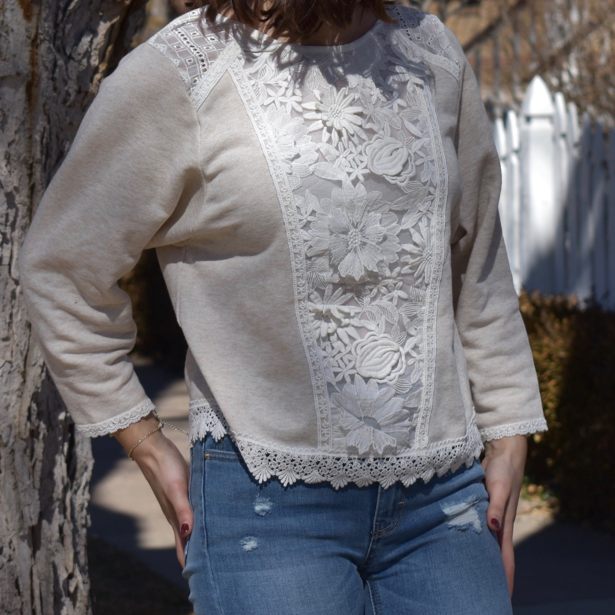 Lace Pullover Sweater