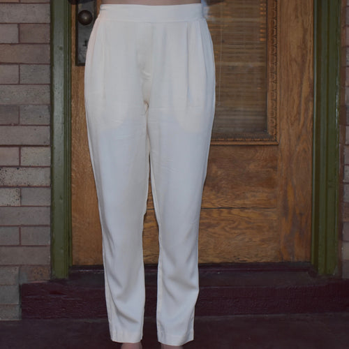 Cotton Pocket High-Waisted Pants