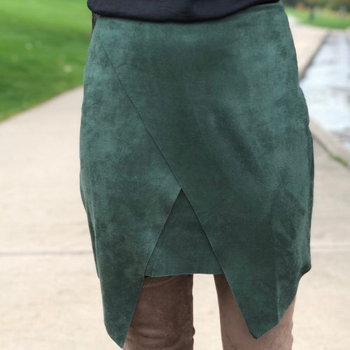 Suede Double Layer Skirt