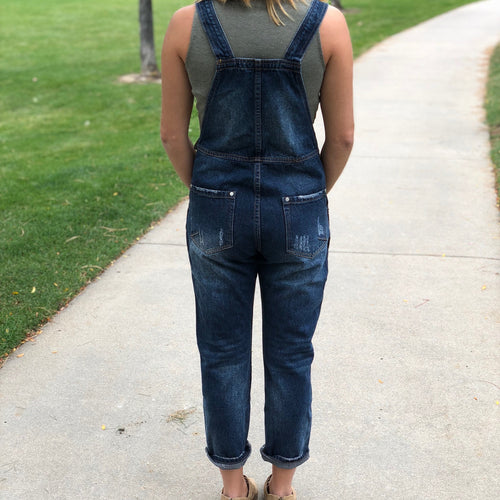 Overall Crop Jeans