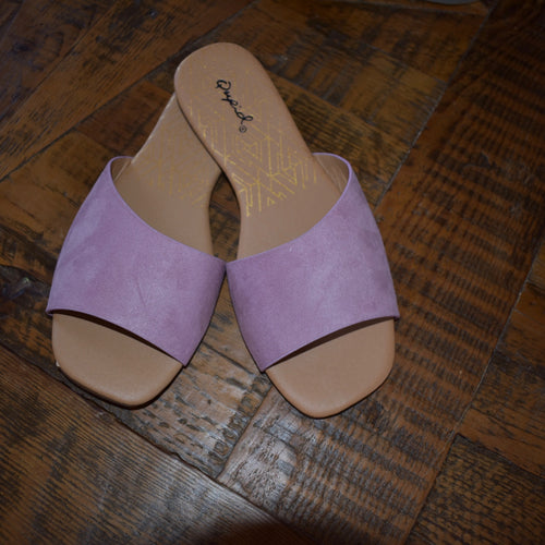 Suede Slip On Sandals