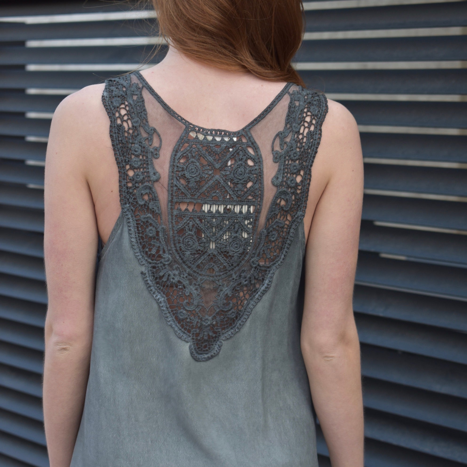 Sleeveless Knit Back Tunic
