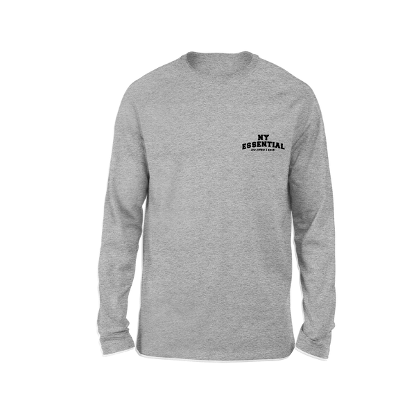 EJ College Long Sleeve T-Shirt - Sports Grey