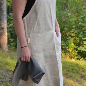 Pinafore Apron - Natural