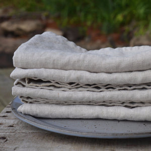 Linen Dinner Napkins - Set of 4 - Natural