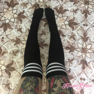 Stripped Thigh Highs