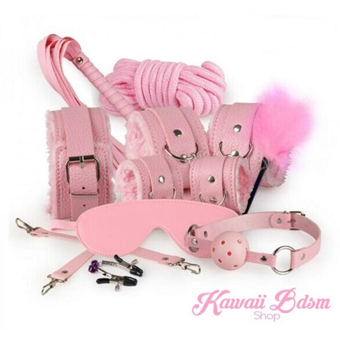 Pink 10pcs Bondage Kit