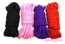 Shibari Rope kinbabu tied restraints Bondage submissive pink purple red and black cotton soft cute aesthetic kink positive  by Kawaii Bdsm - Cute and Kinky / Worldwide Free and Discreet Shipping