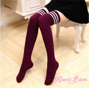 Stripped Thigh Highs (4435115147316)