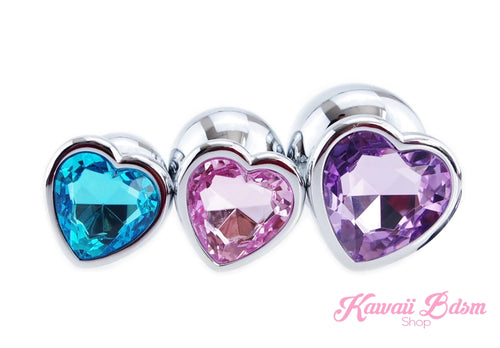 Stainless Steel buttplugs heart shapped pink red blue babygirl sissy femboy aesthetic boy little cglg cglb mdlg mdlb ddlg ddlb agelay petplay kittenplay puppyplay fetish sex partner gift love couple goth kitten pet puppy by Kawaii BDSM - cute and kinky / Worldwide Free Shipping (10886193159)