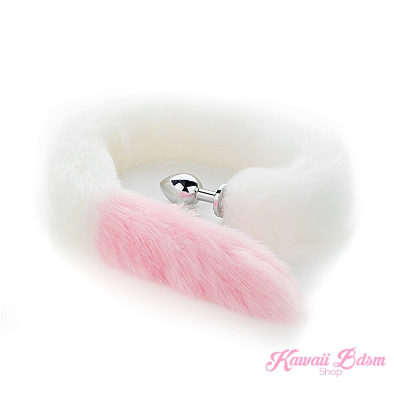 Extra long tail light pink white kitten puppy fox play kittenplay ageplay ddlg roleplay fetish sexy couple pastel kitsune kink pet petplay by Kawaii BDSM - cute and kinky / Worldwide Free Shipping
