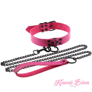 collar choker submissive girly pink blue ddlg mdlg mdlb ddlb caregiver adult toy sexy leash princess slave master dom daddy babygirl baby boy fetish ageplay petplay pet kittenplay kitten puppy puppyplay cat neko by Kawaii BDSM - cute and kinky / Worldwide Free Shipping