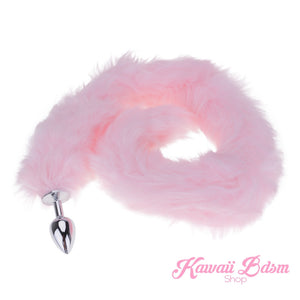 Extra Long Light Pink Tail Plug