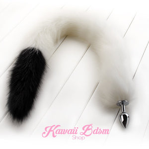 Extra long tail light white black artic kitten puppy fox play kittenplay ageplay ddlg roleplay fetish sexy couple pastel kitsune kink pet petplay by Kawaii BDSM - cute and kinky / Worldwide Free Shipping
