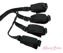 Bed Restraints Bdsm couple bondage hand ankle cuffs sex sub master fetish by Kawaii Bdsm - cute and kinky / Worldwide Free and Discreet Shipping
