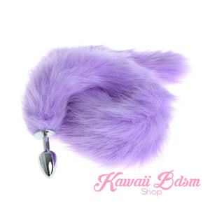 Extra Long Purple Tail Plug