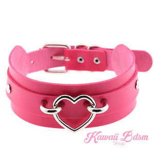 Choker heart collar goth gothic pastel fashion outfit japanese alternative babygirl roleplay ddlg daddy dom mdlg mdlb ddlb little girl boy sissy pet petplay kitten kittenplay puppyplay by Kawaii BDSM - cute and kinky / Worldwide Free Shipping (480873676837)
